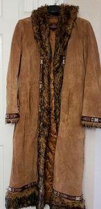EUC beautiful suede coat